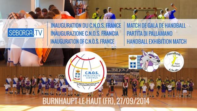 Inaugurazione CNOS Francia e Partitia di Pallamano HDGB – HBC Thann-Steinbach (27/09/14)