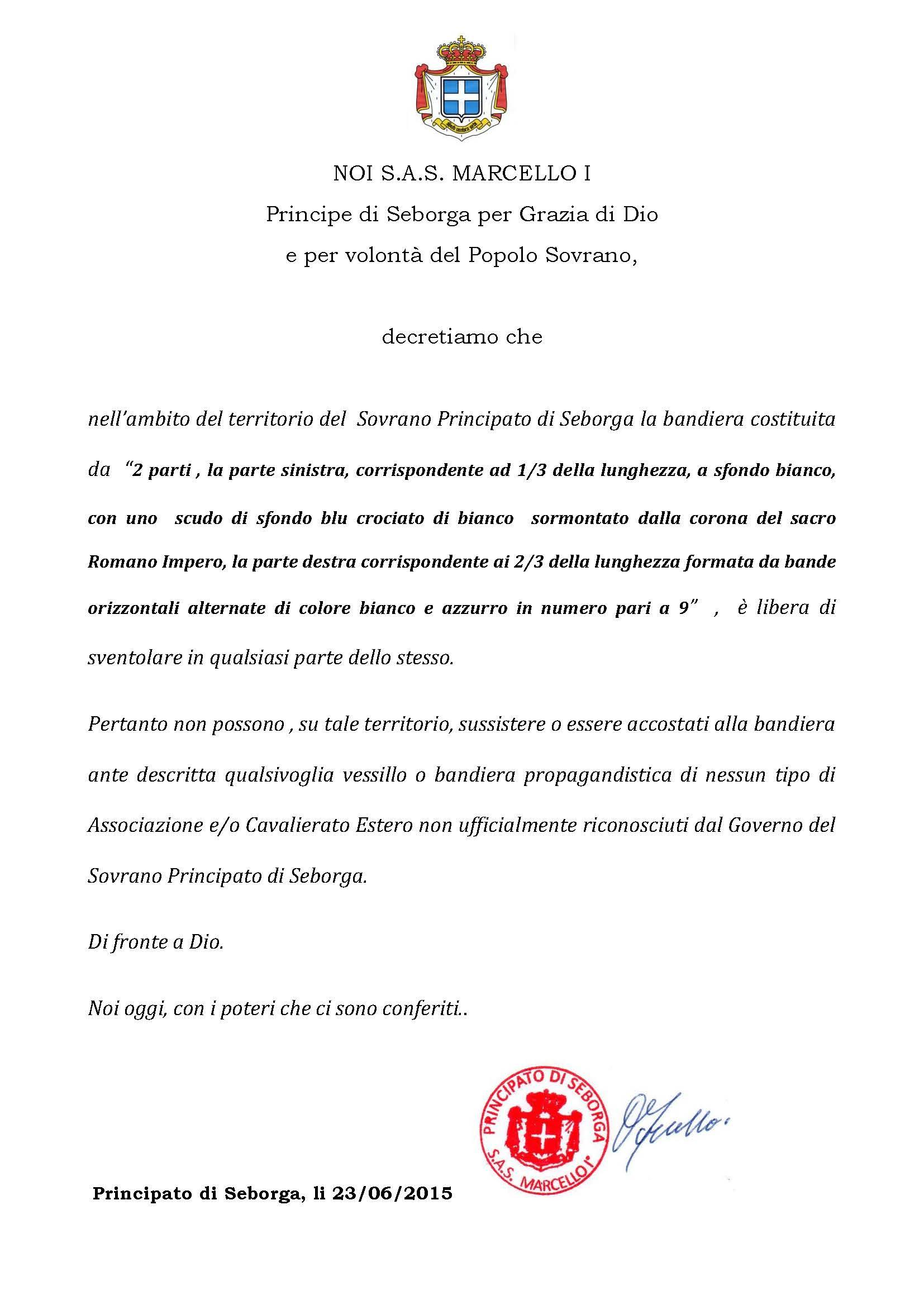 23-06-2015-Decreto utilizzo Bandiera