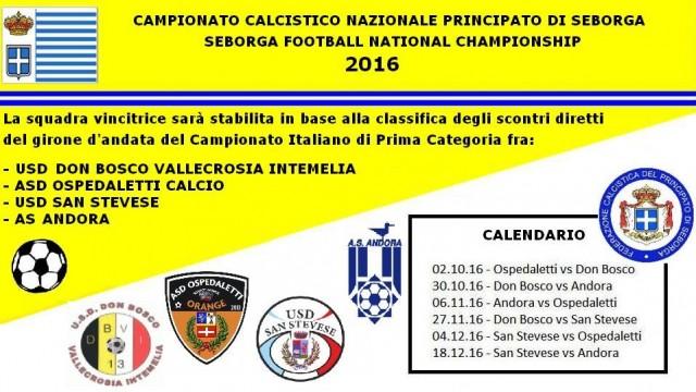 CALCIO : Partito il campionato calcistico di Seborga 2016
