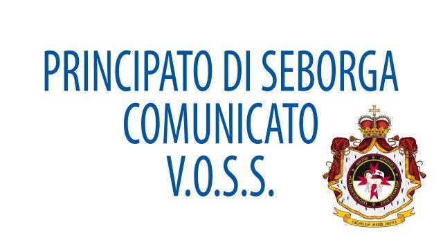 08/09/2017 – PRINCIPALITY OF SEBORGA – COMMUNIQUÉ – V.O.S.S. (Venerabilis Ordo Sancti Sepulchri)