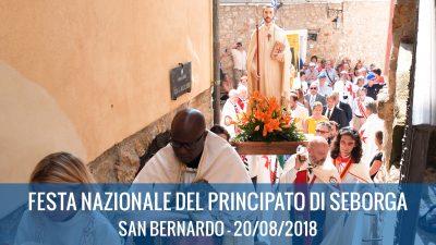 20/08/2017 : FESTA NAZIONALE DEL PRINCIPATO DI SEBORGA 2018 – San Bernardo