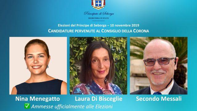 Nina Menegatto et Laura Di Bisceglie candidates officielles aux Elections